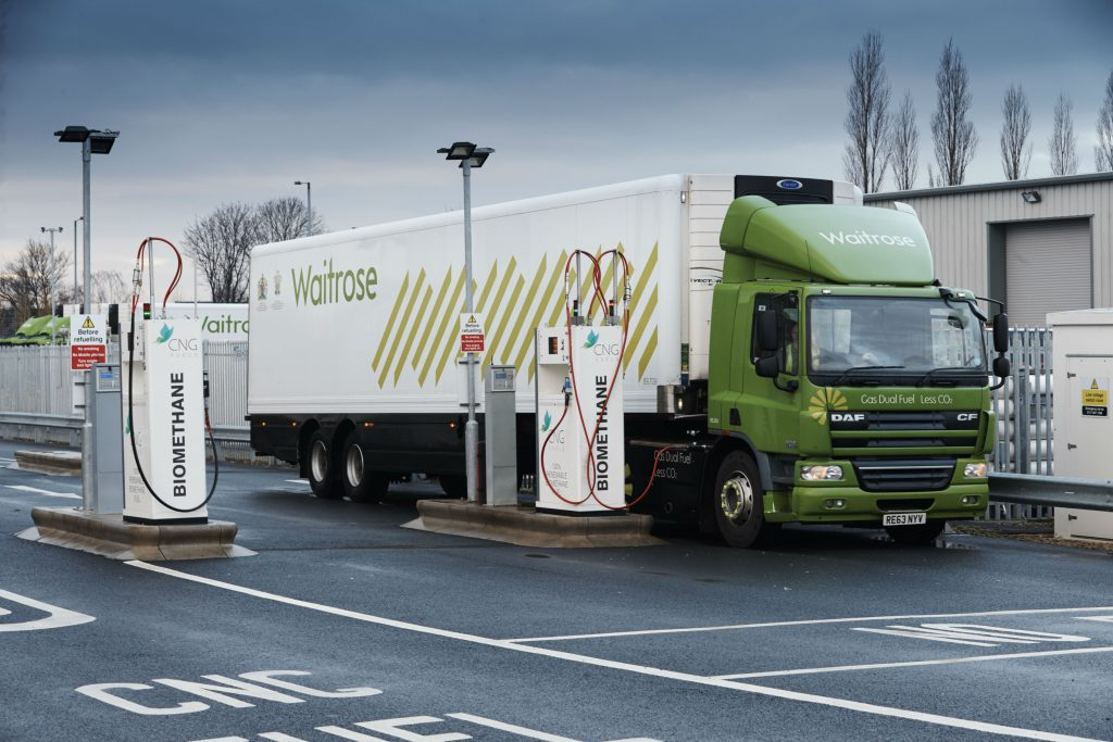 """UK Supermarket Launches """"Game-Changing"""" CNG Trucks to Europe"""