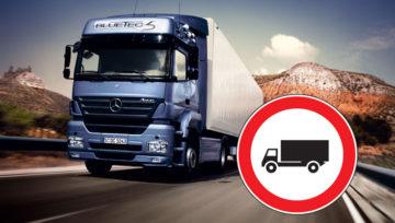 Divieti circolazione 2018: rischio caos per i camion in Italia